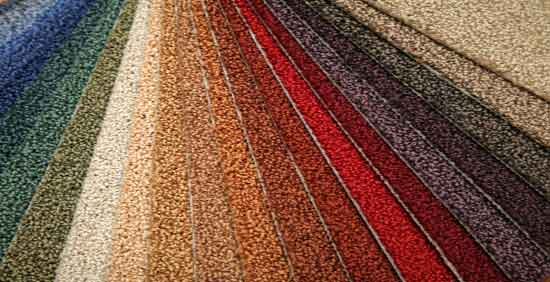 Palette of Carpet Swatches