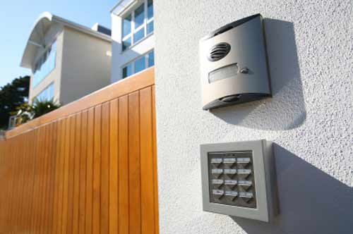 Call box and alarm keypad